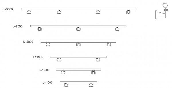 RLS Geländer Wandhalterung für Steg oder Podest